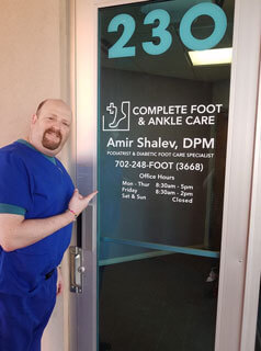 complete foot and ankle care front office